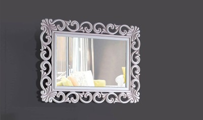 Lilyum Beyaz Kahve Ayna